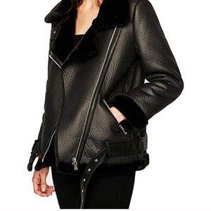 Faux Women's Leather Jacket